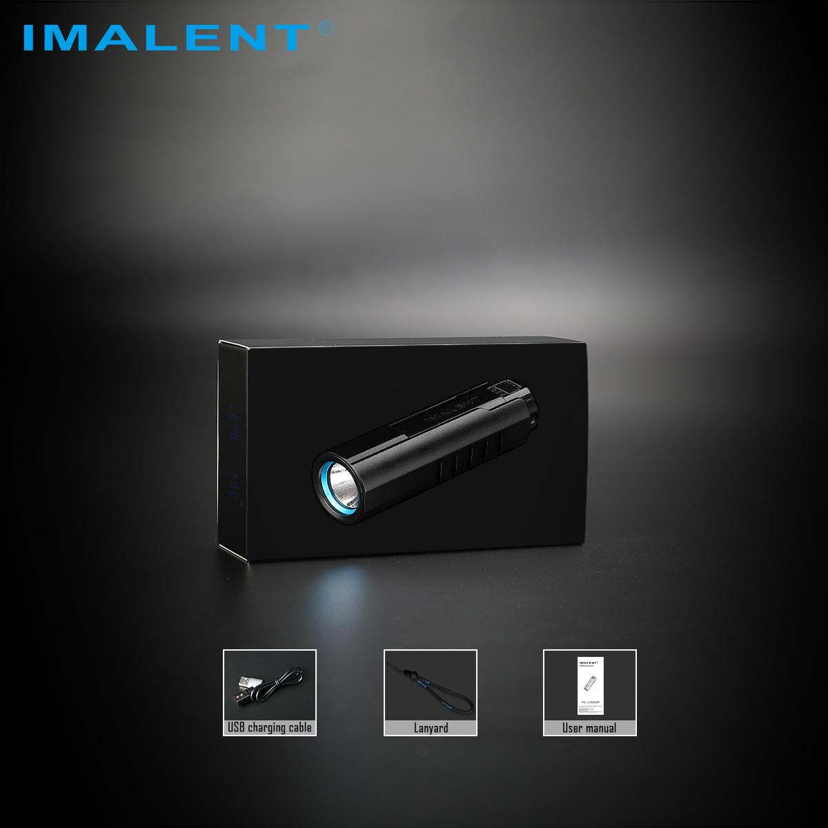 Imalent LD70 4000 Lumens Rechargeable LED Flashlight - Black